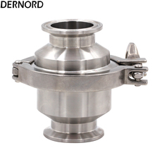 DERNORD OD 35MM Sanitary Check Valve 1.5'' Tri Clamp Type Ferrule OD 50.5mm, Stainless Steel 304, V-iton Gasket a set 76mm 3 sanitary tri clamp weld ferrule tri clamp silicon gasket end cap 304 stainless steel