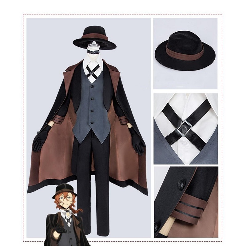 Anime Bungou Stray Dogs Cosplay Costume Chuya Nakahara Cosplay Costume Port Mafia Nakahara Chuya Costume For Men