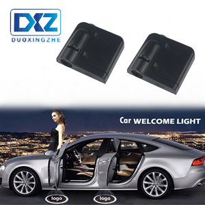 DXZ 2X Wireless Car LED Door Logo Light Laser Projector Ghost Shadow Welcome Light Universal For Opel Alfa remeo VW Mazda Volvo(China)