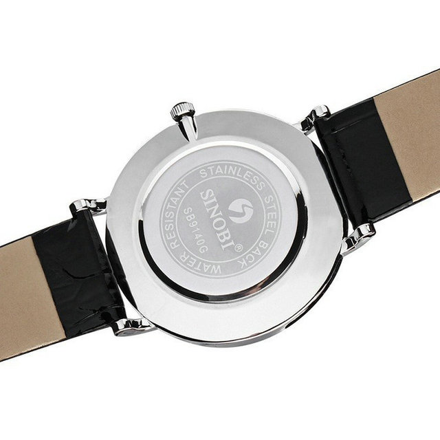 2017 Ultra thin Classic Casual Quartz Wrist watches Men Busness JAPAN SINOBI Brand Leather Analog Relojes hombre Gift Sale