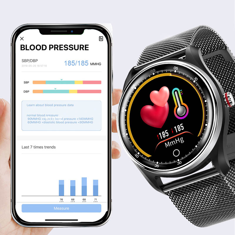 Image 3 - MAFAM smart watch men women blood pressure ECG heart rate monitor smartwatch fittness tracker IP68 smart band android IOS watch-in Smart Watches from Consumer Electronics