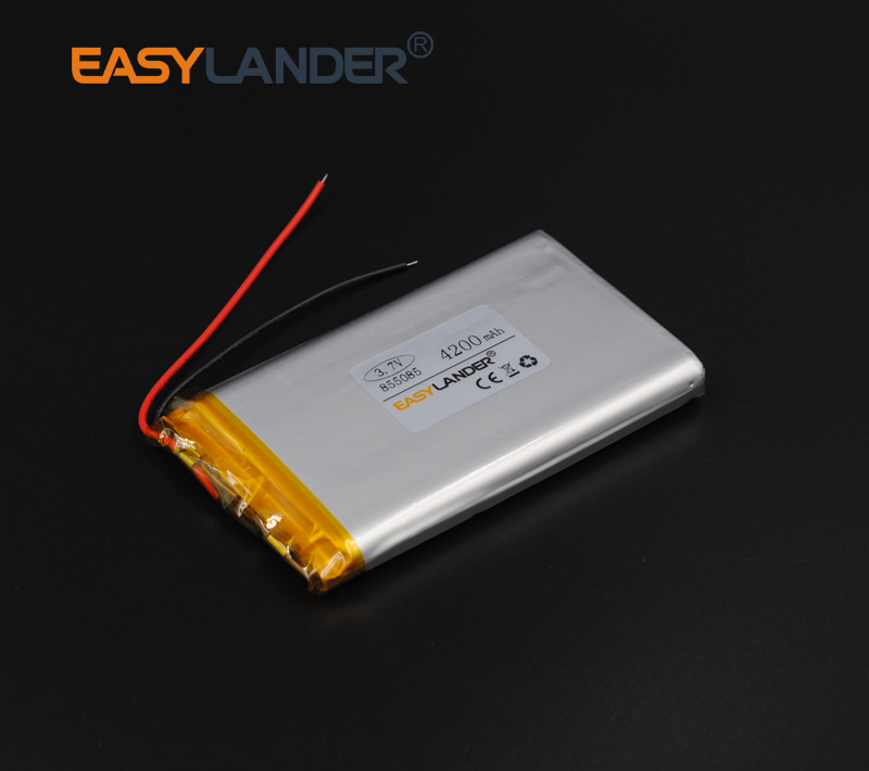 855085 Rechargeable Lithium Li Polymer Li-ion <font><b>3.7V</b></font> <font><b>4200mAh</b></font> <font><b>Battery</b></font> For E-book Vedio power bank Tablet PC mobile dvd Speaker image