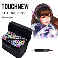 TOUCHNEW 30 40 60 72 80 168 Color Painting Art Sketch Markers Manga Design Paint Marker