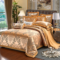 2018 NEW Hot !!!Free Shipping 12 Types Luxury Satin Silk Jacquard 4PCS BEDDING SETS King Queen size bed sheets velvet bedclothes