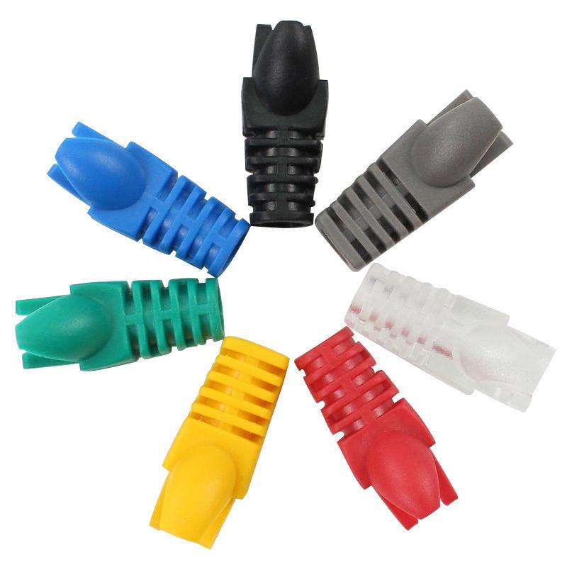 100pcs Paw Shape Cat6 Crystal Head Sheath Cat5 Plug Jack Network Cable Protective Casing Rj45 Socket Boot Cap Ethernet Connector