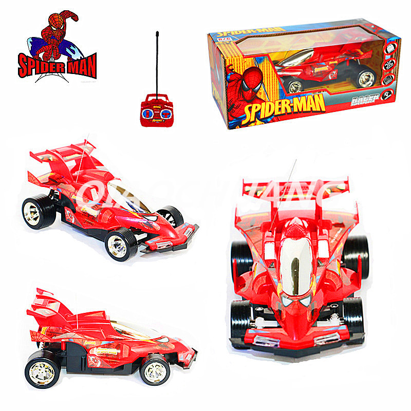 The Amazing Spider-Man Superhero Spider-Man Wireless Remote Control Car Racing Chariot Action Figure Collectible Model Toy Boxed