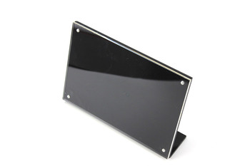15*10cm 10 pcs A6 Acrylic Magnetic L Frame Stand Label Card Tag Name Paper Holder Tabletop Poster Sign Display Rack Black T5mm