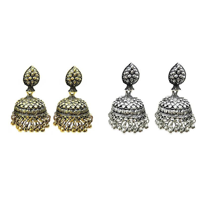 شيك اليد منحوتة الجولة موضة النساء JhumKi بنغلاديش القرط gypالغجر العصرية الباكستانية مجوهرات