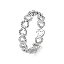The New Innovative Copper Electroplating Ring Can Adjust WomenS Hollow Love