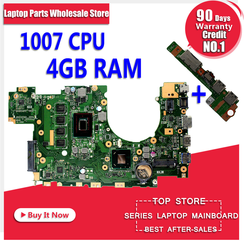 Send board+X402CA for ASUS X502CA X402CA motherboard for laptop X502CA new motherboard rev2.0 4 g RAM 1007u DDR3L Tests 100% OK original for asus x502ca laptop motherboard x402ca rev2 1 1007u cpu 4gb mainboard tested well