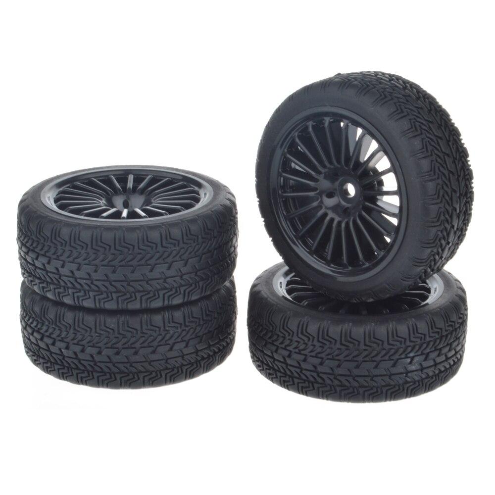 1/10 RC Car On-Road Tires w/ Foam Insert for HSP HPI TT01 1:10 RC Car Part (4pcs) 4pcs rubber rc racing tires car styling on road wheel rim fit for hsp hpi 1 10 high quality rc car part diameter 68mm tires