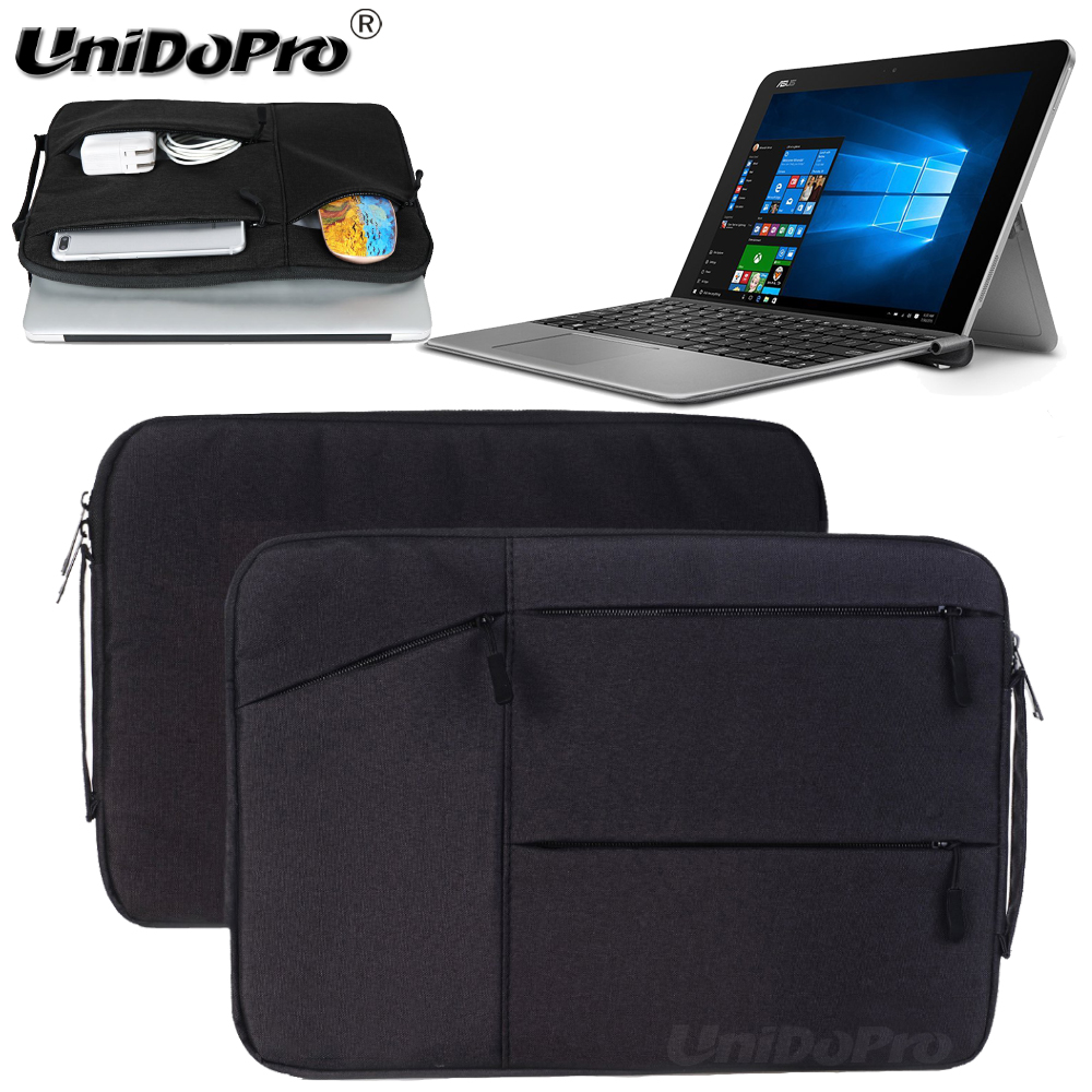 Unidopro Multifunctional Sleeve Briefcase Handbag Case for ASUS ZenBook 3 UX390UA-XH74-BL 12.5-inch Laptop Carrying Bag Cover