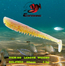 Fishing Lure Soft Silicone Leurre souple Shad 10pcs 6cm/2.5g Esfishing FLK MINNOW 2.4″ Carp Fishing Iscas Saltwater China