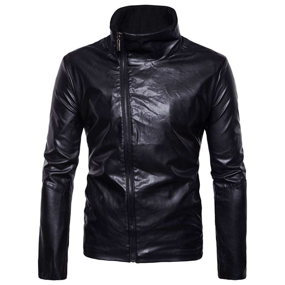 Men Motorcycle PU Leather Jacket Autumn Winter Autumn Clothing Business Casual Coats Outwear JL