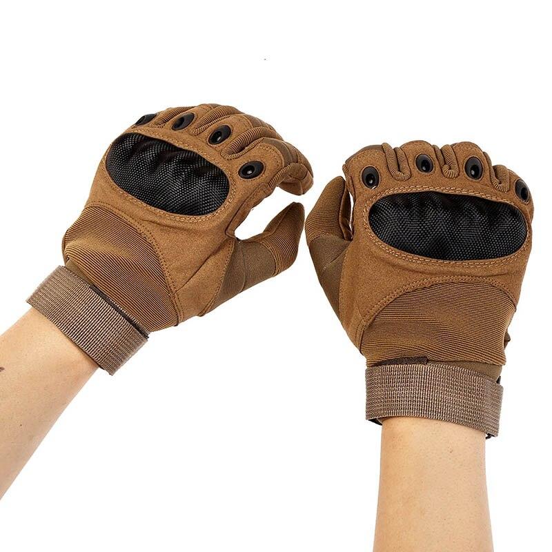 Taktische Militärische Anti-Skid Gummi Harte Knuckle Volle Finger Handschuhe Armee Paintball Schießen Airsoft Kampf Handschuhe 1 para Heißer
