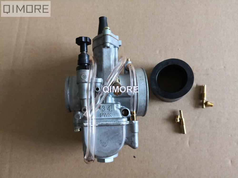 US $9 45 10% OFF|KOSO34 KOSO 34 KOSO 34mm PZ34 PWK flat slide performance  Carburetor Carburador for ATV QUAD Dirt Bike Scooter GY6 125 150 250-in