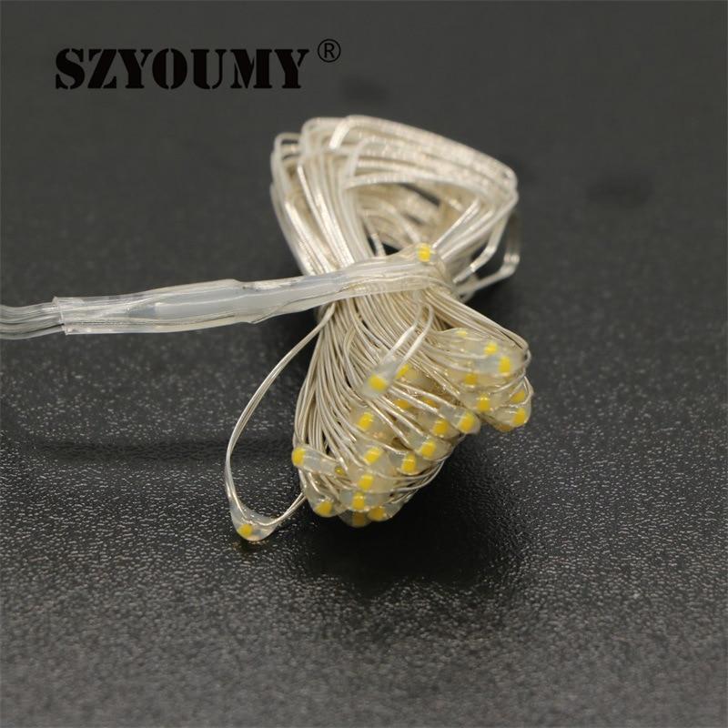 SZYOUMY декор Күміс сым LED 3M мыс сым 3 AA - Мерекелік жарықтандыру - фото 3