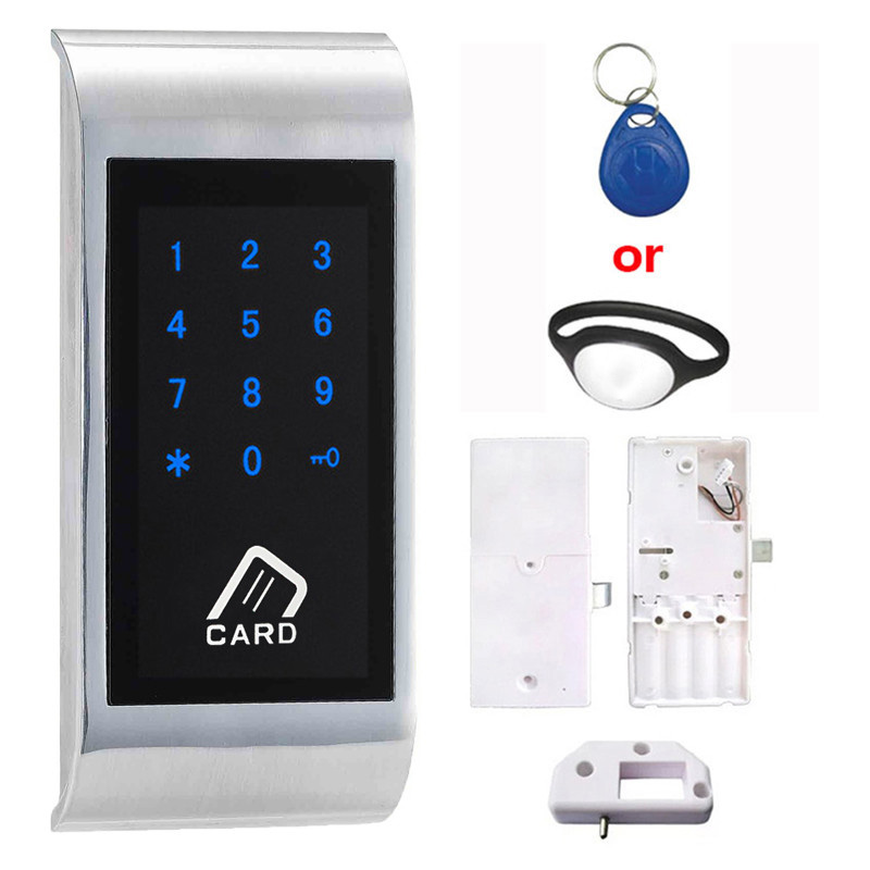 Touch Keypad Password EM Card Key for Home Chip Strap for Public Electronic Cabinet Lock For SPA Swimming EM126-TS