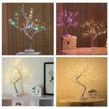 цена Touch Switch control Tree Bright LED Lamp 108 LEDS Tree Lights 50cm LED Tree Light For Home Christmas Holiday Decor онлайн в 2017 году