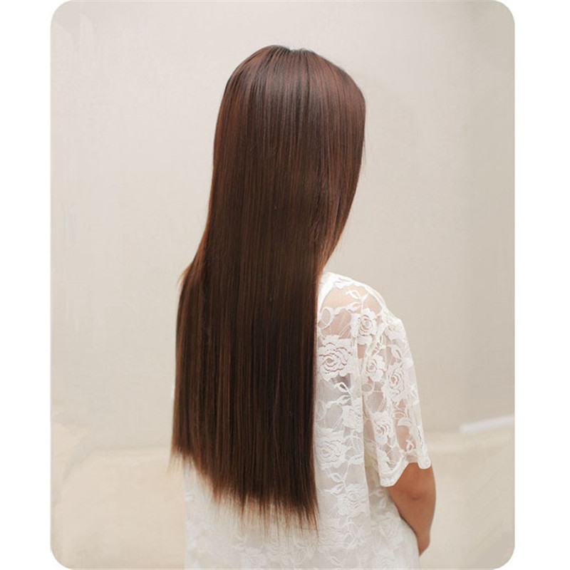 Long Straight wigs for women One Piece 5 Clips in Hair Wig Wigs full lace wigs hair with baby hair straight 52523A