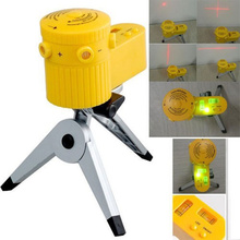 цена на New Plastic Multifunction Laser Level Leveler Tool with Tripod Useful, home-foot level,capable of rotation,can up with tripod