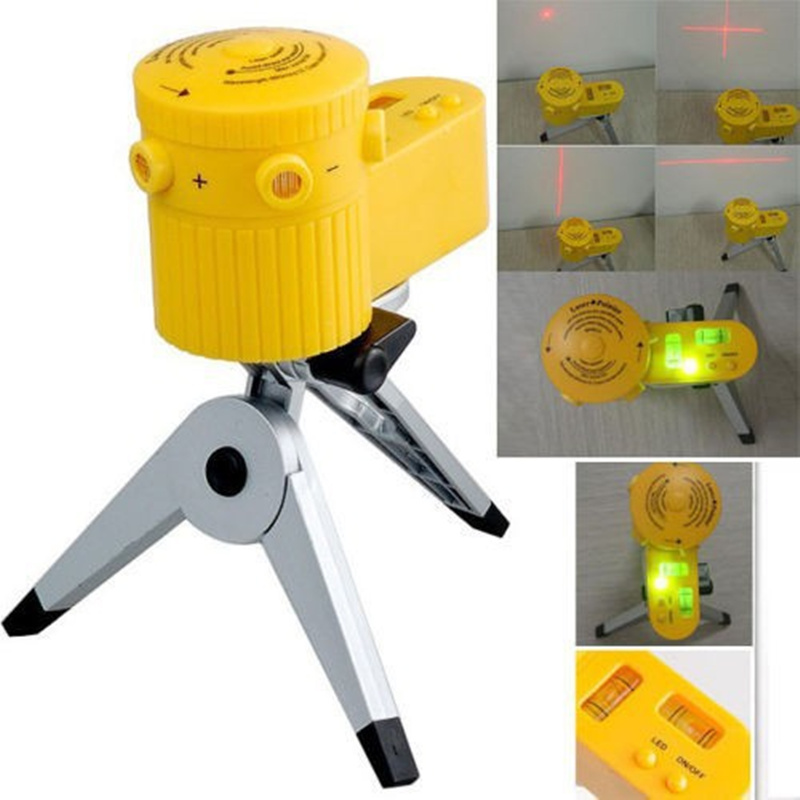 New Plastic Multifunction Laser Level Leveler Tool With Tripod Useful, Home-foot Level,Capable Of Rotation,Can Up With Tripod