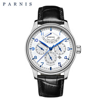 Бесплатная доставка Parnis 42 мм автоматические часы Moon Phase power serve часы для мужчин люксовый бренд Топ Miyota механические Winder часы