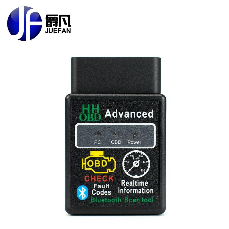 ELM327 Bluetooth DE VOITURE De Diagnostic-Outil ELM 327 Version OBD 2/OBDII pour Android Couple OBD2 Car Auto Code Scanner easydiag