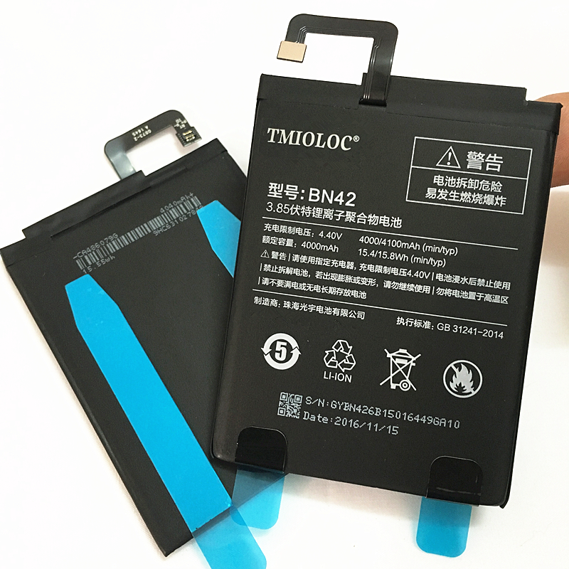 Mobile Phone Batteries Tmioloc 100% New Original Real 4000/4100mah Bn42 Battery For Xiaomi Redmi 4 For 2g Ram 16g Rom Edition Cellphones & Telecommunications