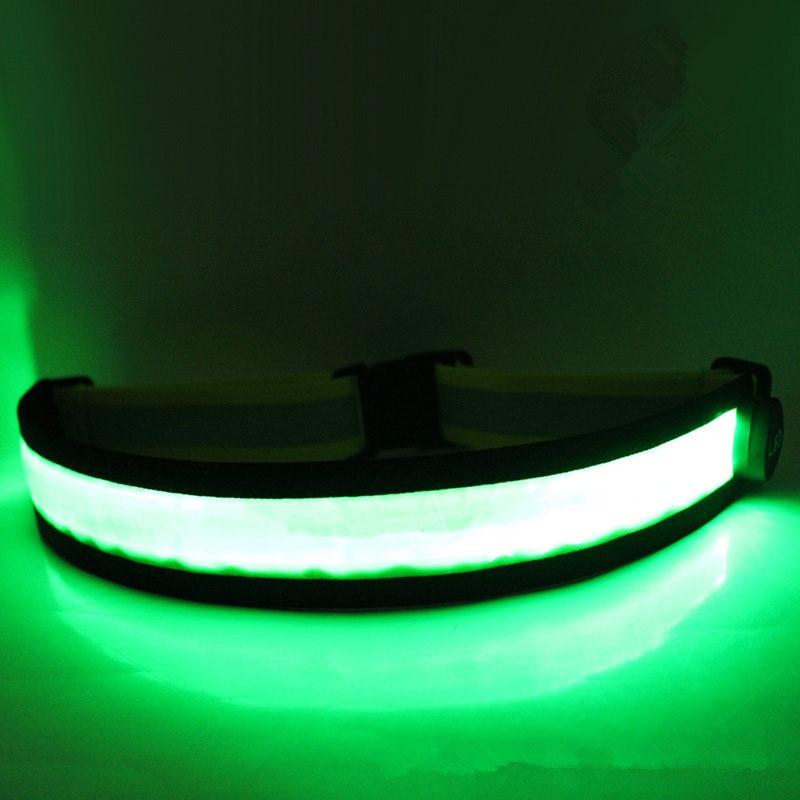 Fashion Men And Women LED Flashing Luminous Waistband High Quality Safety Reflective Belt Waistband Bicycle Jogger