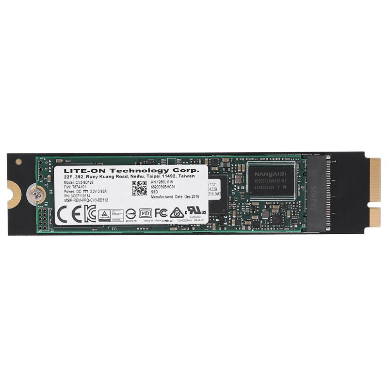 128GB SSD for Apple 2012 MacBook AIR A1465 A1466 MD231 MD232 MD223 MD224 SSD 1pc