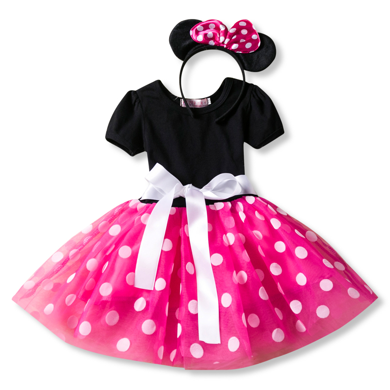 HTB1rgdoaifrK1RjSspbq6A4pFXaT Fancy New Year Baby Girl Carnival Santa Dress For Girls Summer Minnie Mouse Holiday Children Clothing Party Tulle Kids Costume