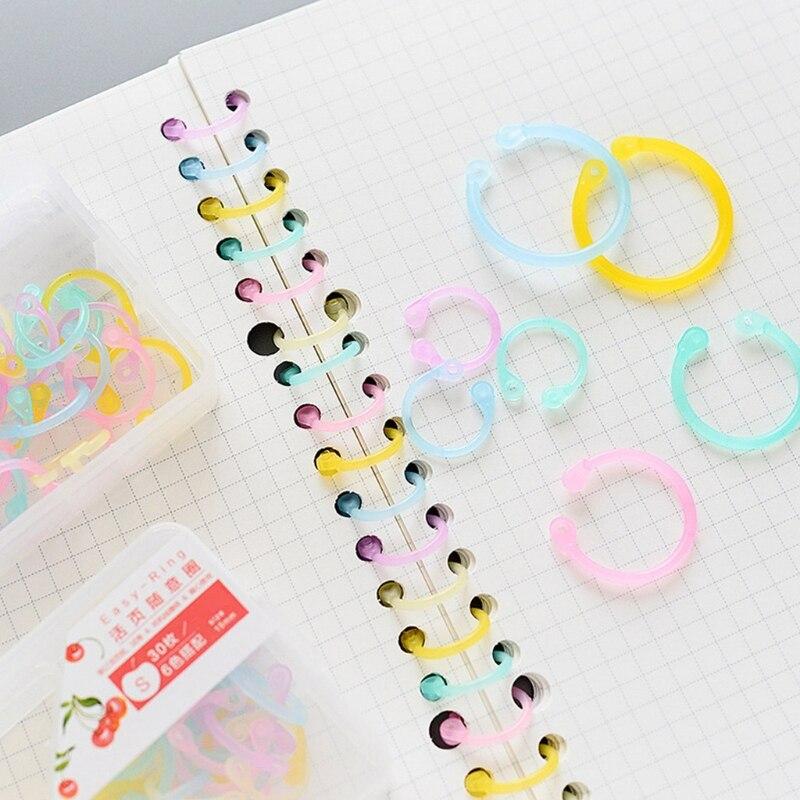 OOTDTY High Quality Binder Ring Creative Plastic Multifunction Circle DIY Album Loose Leaf Book Binder Hoop Ring Qiang