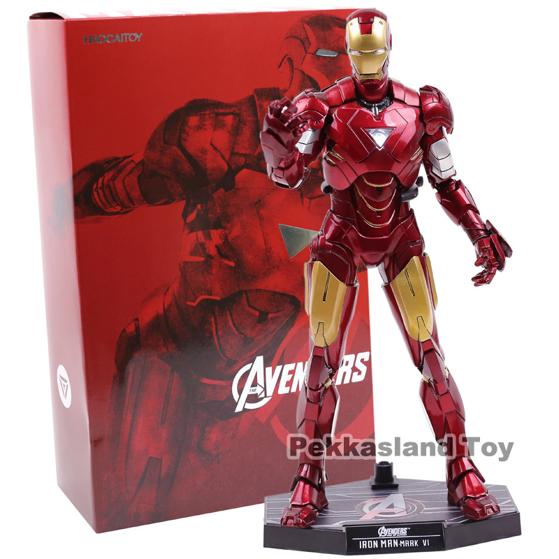 Hot Toys Iron Man Mark VI MK 6 with LED Light PVC Action Figure Collectible Model