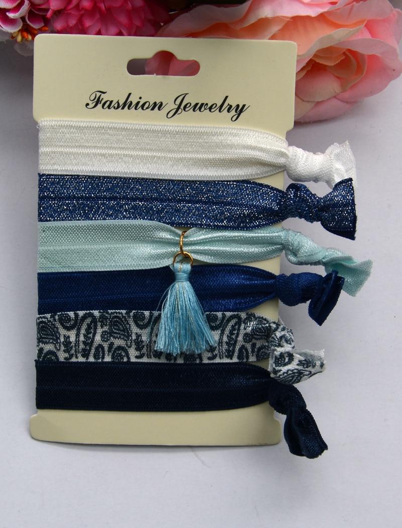 Fashion 5Pcs/Set Girl Print Elastic Hair Bands Cute Scrunchie Rubber Bands Knot Hair Rope Women Hair Accessories Ponytail Holder