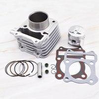 Motorcycle Cylinder Piston Gasket Rebuild Kit for SUZUKI GN125 GN 125 1982 2001 125cc 150 cc STD 57mm Big Bore 62mm