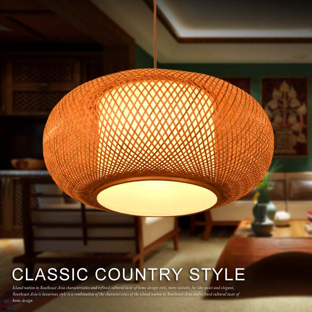 Bamboo Chinese style antique dining room Pendant Lights bamboo tatami tea room balcony bamboo lanterns study Pendant lamps ZS67 chinese chandelier japanese style living room bedroom restaurant bamboo lanterns southeast asia tatami antique tea room box led