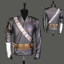Редкий ручной работы MJ Майкл Джексон плохой опасный Джем Лазерная куртка ремень набор производительности подарок имитация шоу музыка звезда коллекция