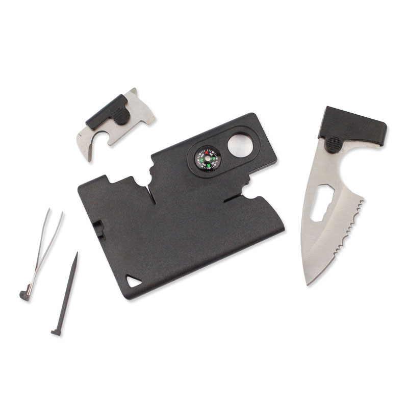 Multifunctional 9 In 1 Pocket Durable Card Knife Outdoor Sports Camping Hiking Survival Emergency Self-defense Accessories