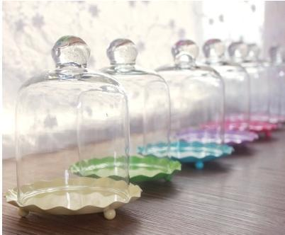 mini wedding cakes shipped free shipping multicolour mini cake pan with glass dome 17430