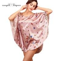 Tinyear 2017 New Women Bathrobe Faux Silk Pijama Sleep Top Lounge Ladies Robes Female Plus Size Dressing Gowns For Women 3003YT