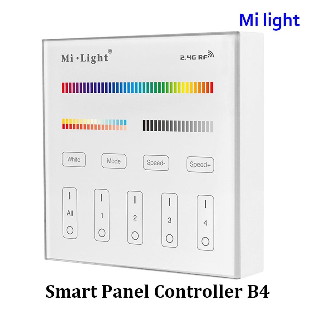 BSOD LED Smart Panel Dálkový ovladač Milght B4 RF2.4G Bezdrátový ovladač 4-zónový RGB + CCT kanály Řízení DC 3V baterie