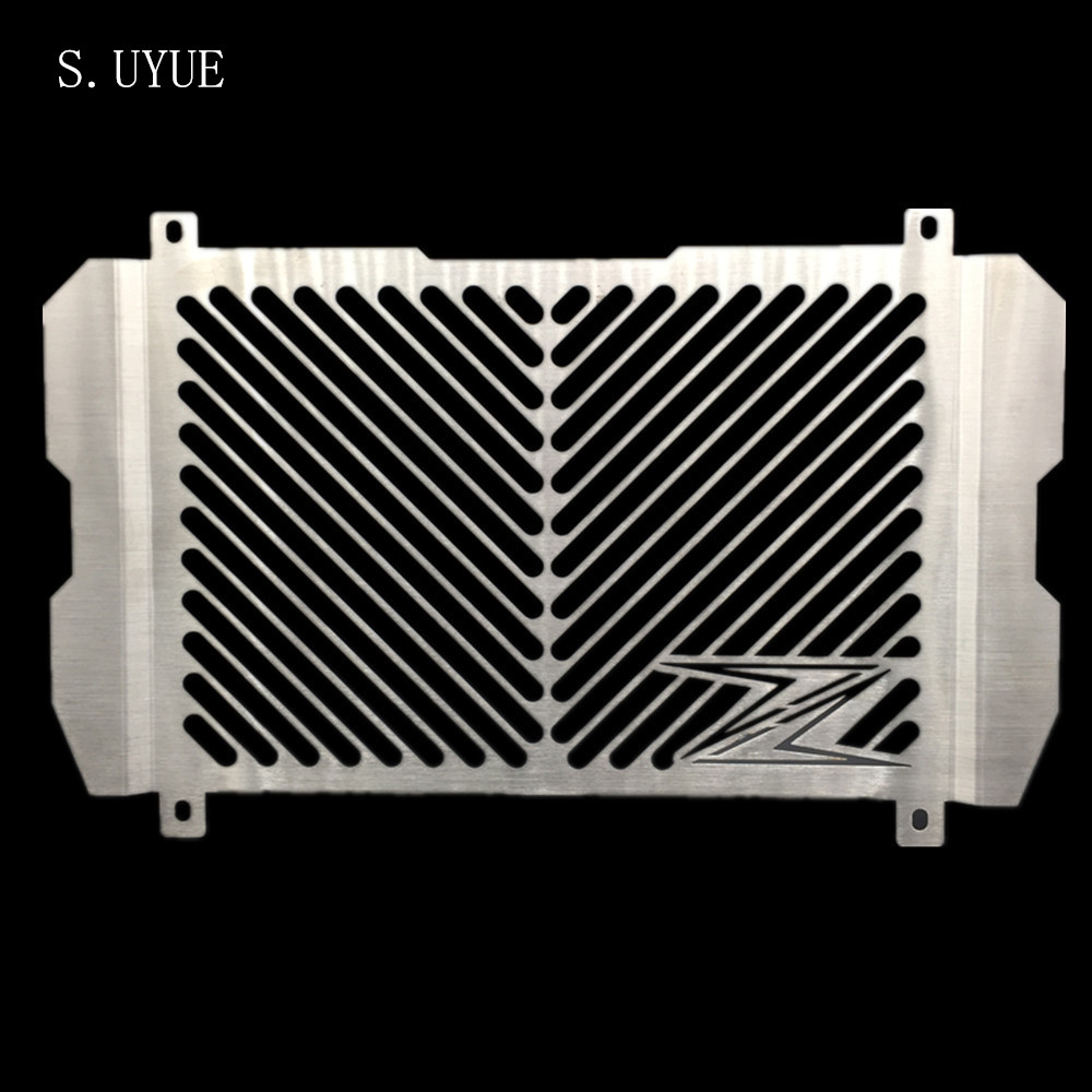 S.UYUE New Arrival Stainless Steel Motorcycle Radiator Guard Radiator Grille Cover Fits For KAWASAKI Z900 Z 900 2017 for kawasaki z900 2017 motorcycle radiator guard gloss stainless steel grille bezel radiator net protective cover