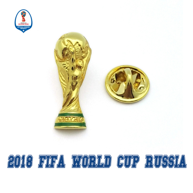 d684933d8f10 Officially authorized world cup 2018 football Russia 2018 national team  Hercules Cup badge fan souvenir limited Zabivaka