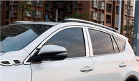 Stainless Side Window Center Pillar Covers Trim Decoration For Toyota RAV4 2016 2017 2018 Side Window former triangle Decoration