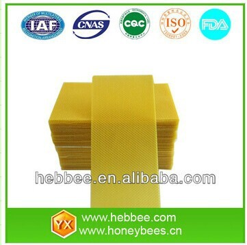 40% pure bee wax beekeeping equipment beeswax foundation sheet