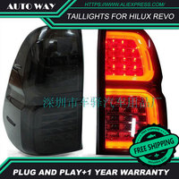 Free shipping Tail light LED hilux revo rear lights parking taillights LED taillight case for toyota hilux revo Car styling