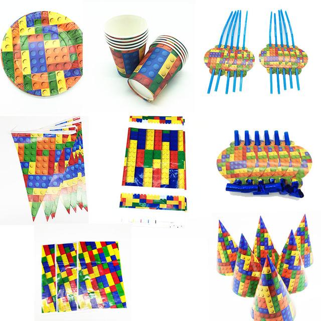 Lego Blocks Birthday Party Supplies