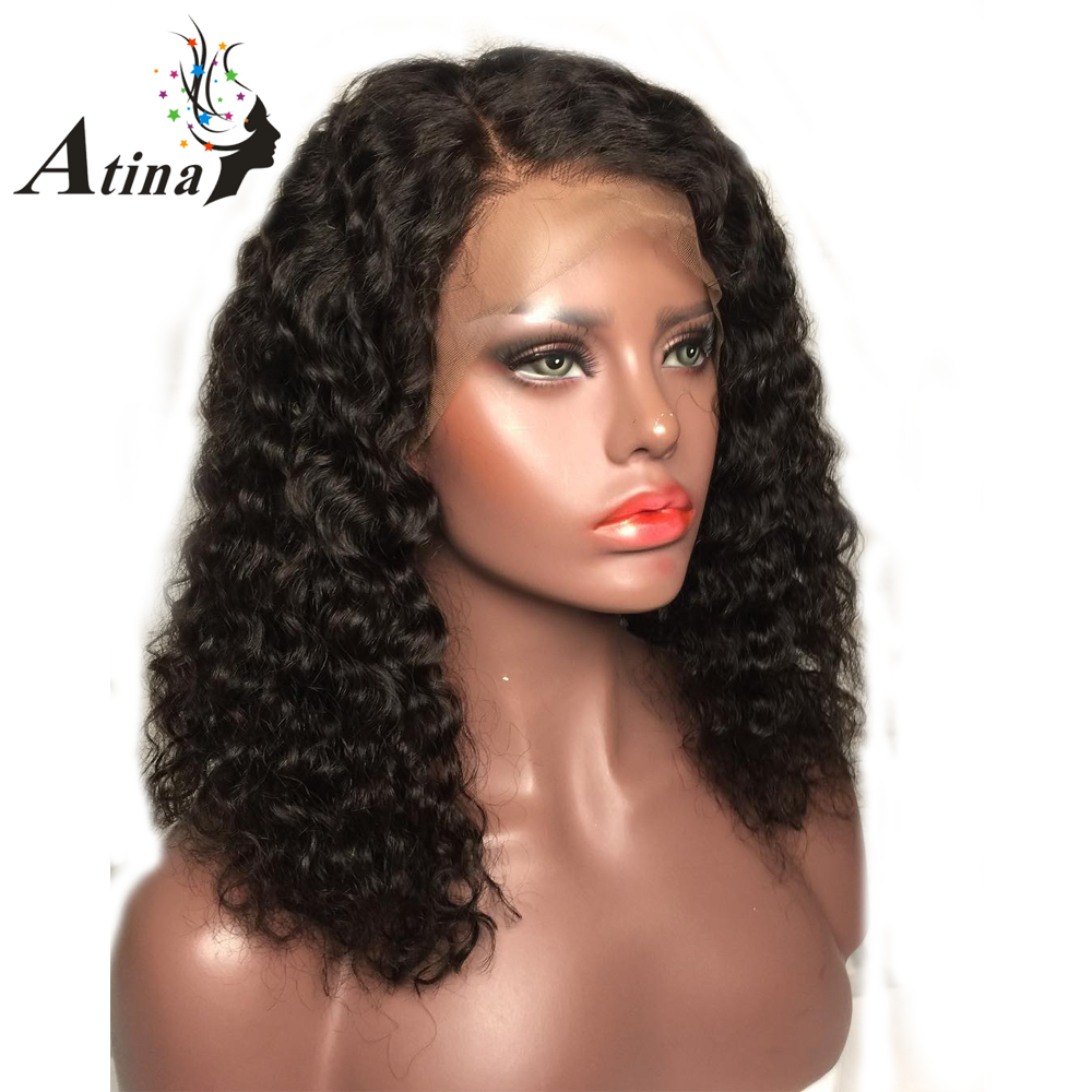Aliexpress Com Buy Women Curly Human Hair Wig Short Bob