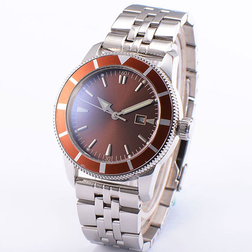 Luxury BLIGER 46mm Red Dial Rotating Bezel Luminous Pointer Miyota Automatic Movement Mens Watch Luxury BLIGER 46mm Red Dial Rotating Bezel Luminous Pointer Miyota Automatic Movement Mens Watch